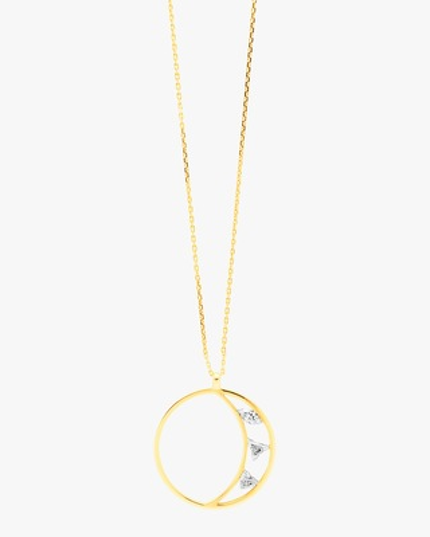 Swati Dhanak Floating Crescent Pendant Necklace 2