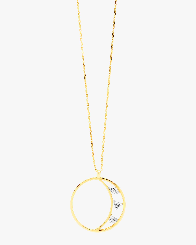 Swati Dhanak Floating Crescent Pendant Necklace 1