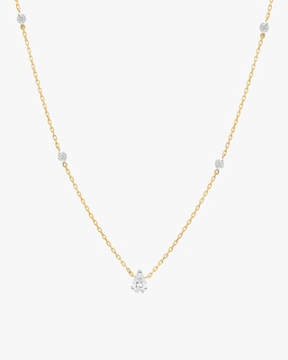 Swati Dhanak Floating Pear Station Necklace 2