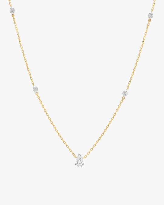 Swati Dhanak Floating Pear Station Necklace 1