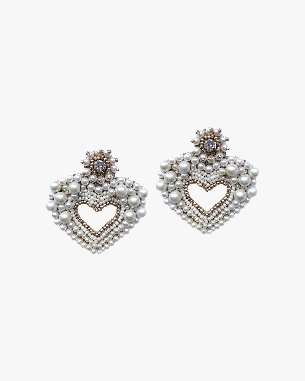 MÄHA & MORENA Hearty Faux Pearl Earrings 1