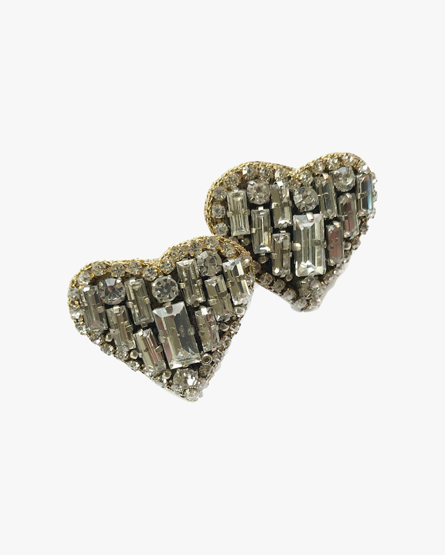 MÄHA & MORENA Crystal Heart Stud Earrings 0