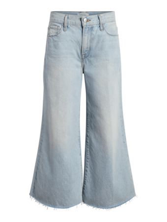 Le Palazza Raw Edge Crop Jeans