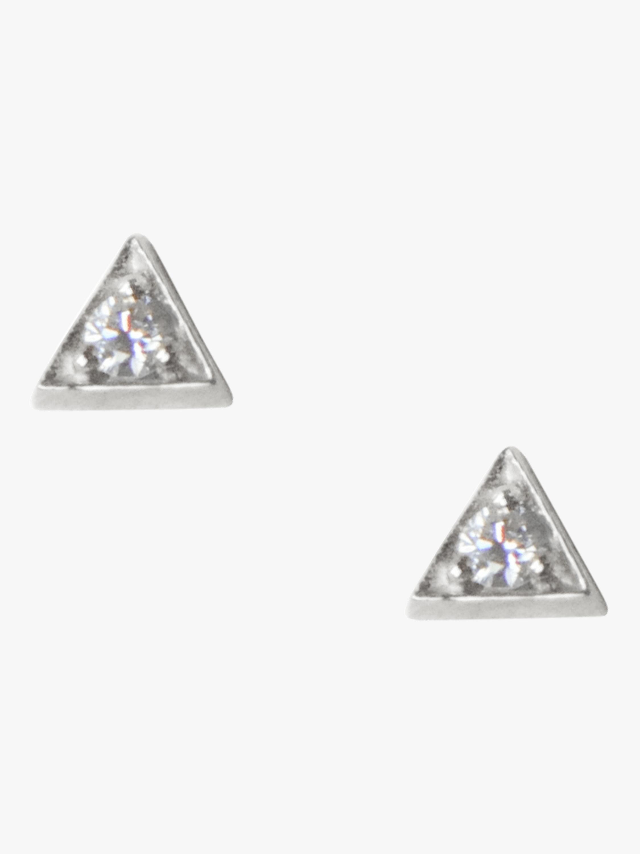Cléo Sapphire Triangle Studs