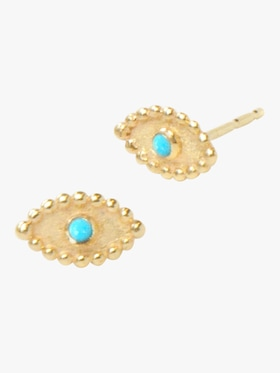 Dew Drop Evil Eye Studs