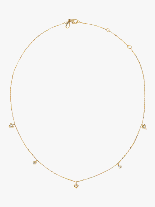 Anzie Cléo Geometric Crew Necklace 1