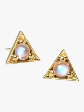 Mini Cléo Trillion Moonstone Studs