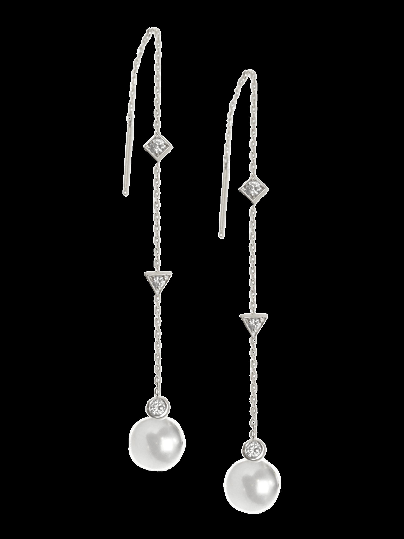 Cléo Freshwater Pearl Chain Earrings