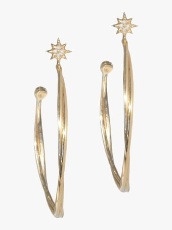 North Star Twist Hoop Earrings