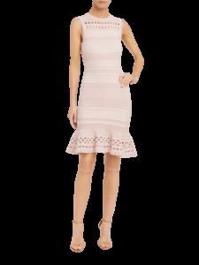 Knit Lace Cutout Mermaid Dress