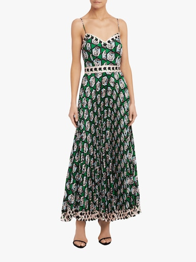 Pleated Jill Maxi Dress