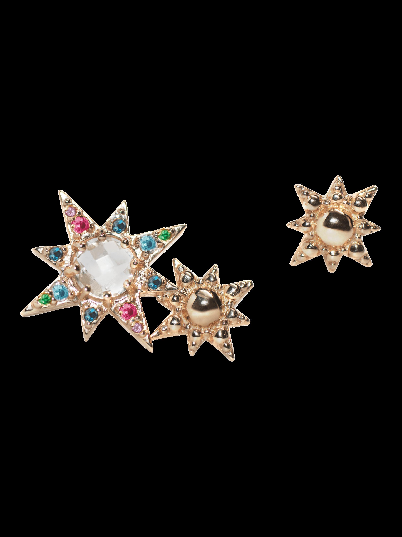 Double Starburst Asymetric Studs