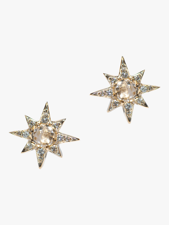 Anzie Mini Aztec Starbust Earrings 1