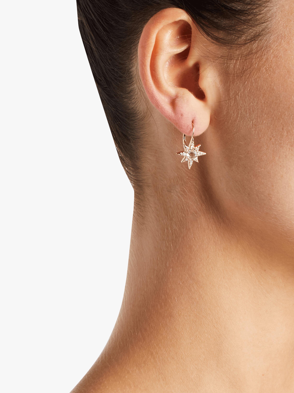 Aztec Starburst Drop Huggie Earrings