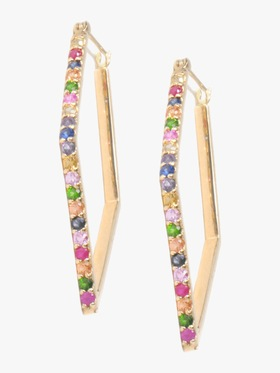 Cléo Multicolored Geometric Hoops