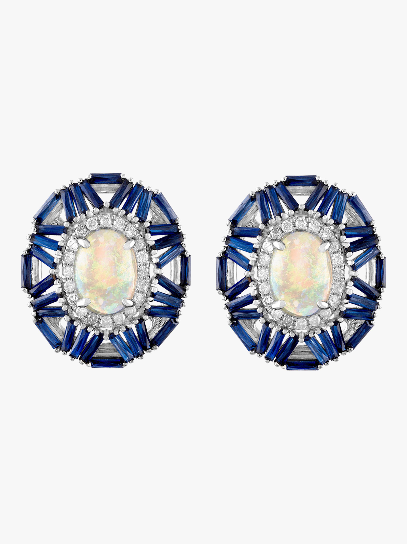 Cabochon Baguette Earrings