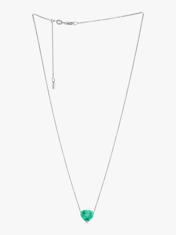 Adjustable Emerald Necklace
