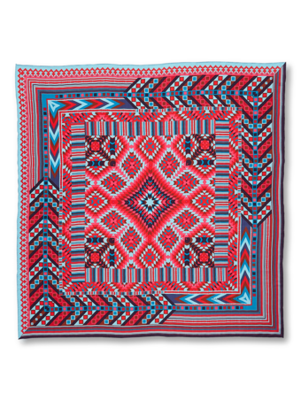 Geometric Printed Cashmere Scarf