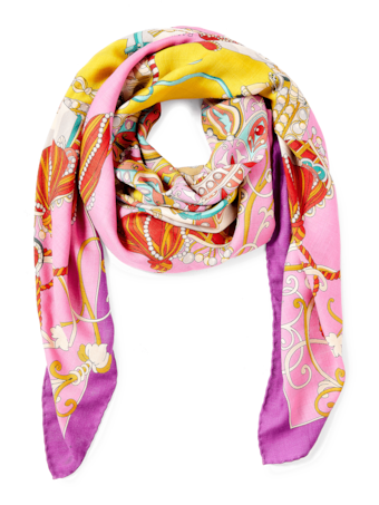 Toy Horses Printed Cashmere Scarf