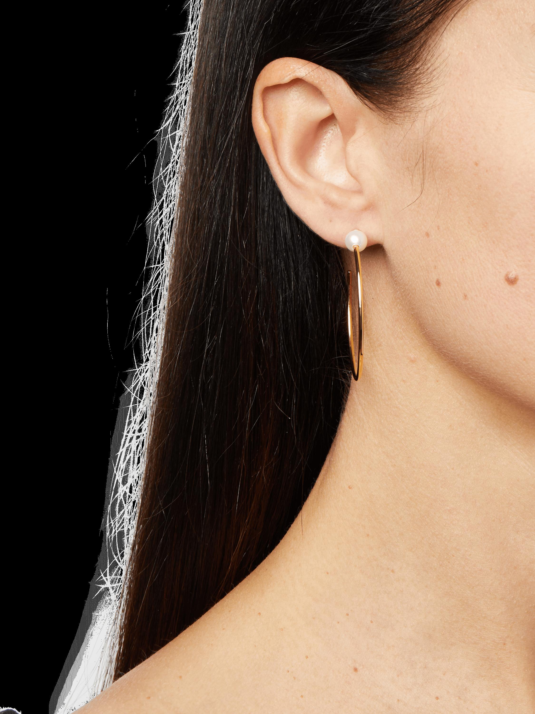 Sfera Pearl Hoop Earrings 1.75