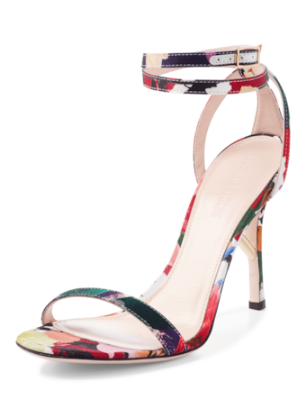 Felix Floral Print Sandal with Ankle Strap