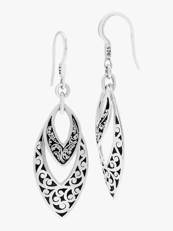 Classic Scroll Drop Earrings