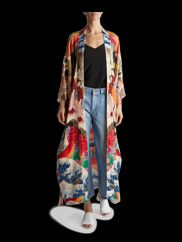 Trippin Long Kimono