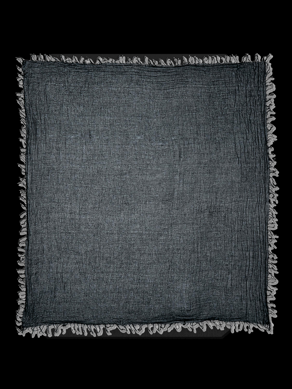 Solid Cashmere Silk Fringe Scarf