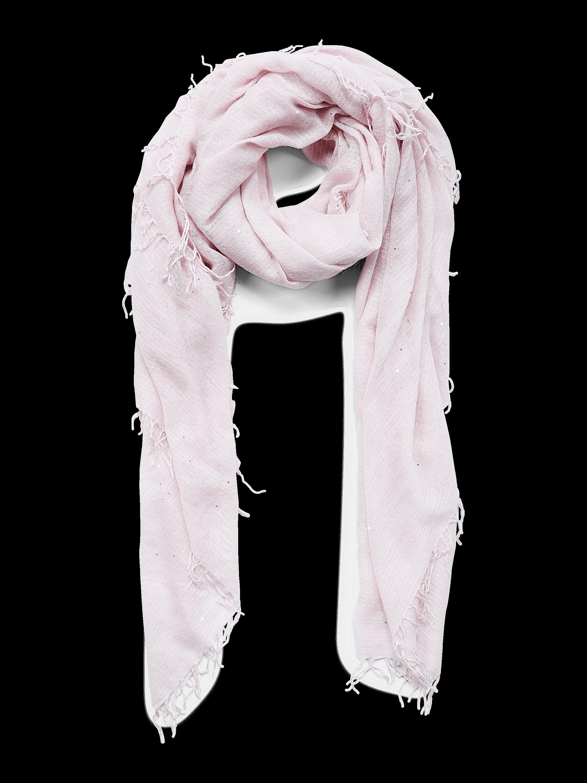 Scattered Sequin Cashmere Silk Fringe Scarf