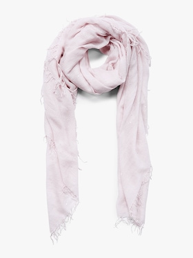 Scattered Sequin Cashmere Silk Fringe Scarf