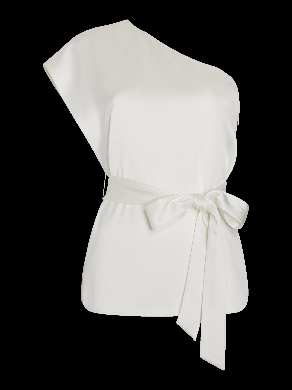 Lavine One Shoulder Tie Waist Top