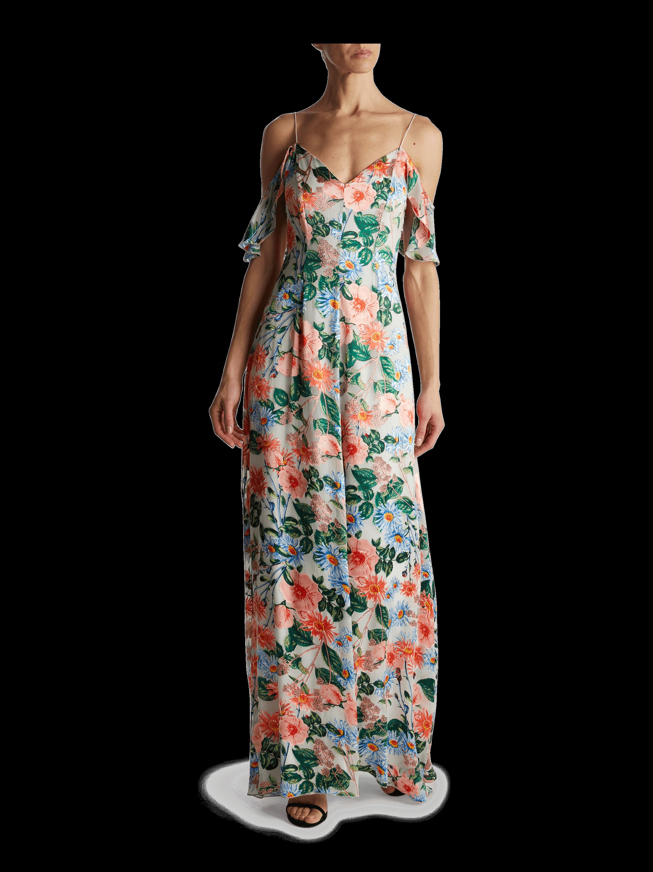 Alves Cold Shoulder Maxi Dress