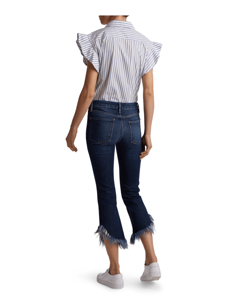 Le Crop Shredded Raw Jeans Frame