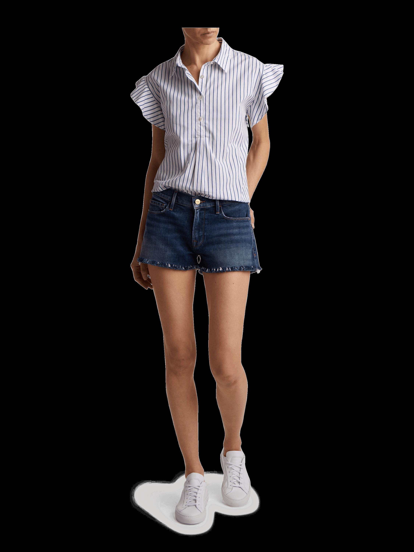 Le Cutoff Shredded Raw Shorts