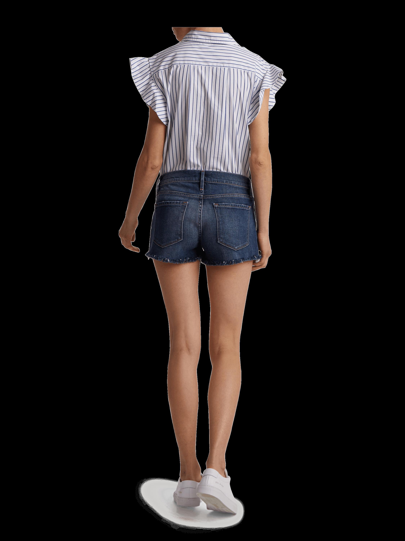 Frame Le Cutoff Shredded Raw Shorts 3