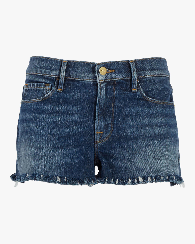 Frame Le Cutoff Shredded Raw Shorts 0