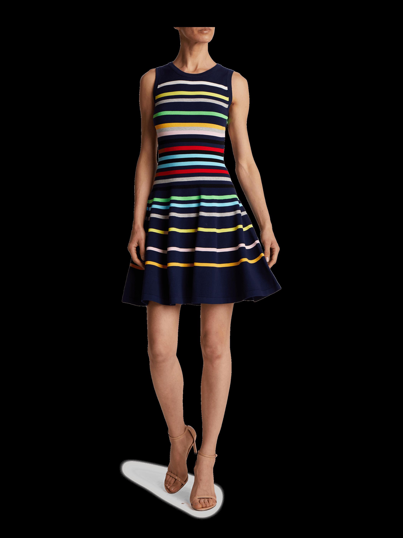 Rainbow Stripe Flare Dress