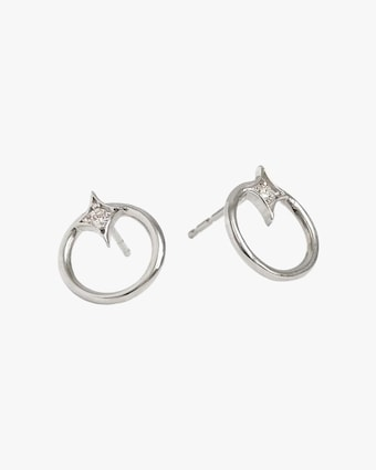 Jac + Jo Gothic Diamond Open-Circle Stud Earrings 2