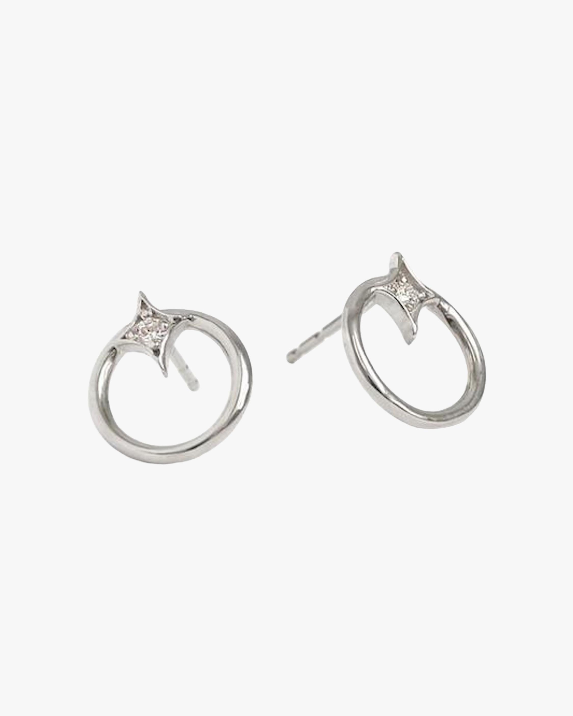 Jac + Jo Gothic Diamond Open-Circle Stud Earrings 1