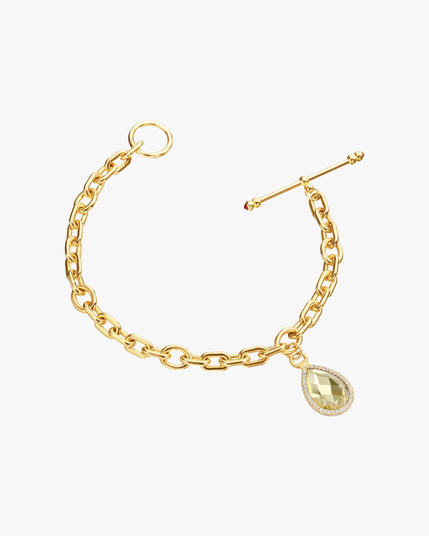 Nina Runsdorf Citrine Flip Charm Bracelet 2