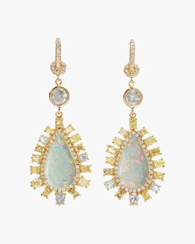 Large Opal Earrings