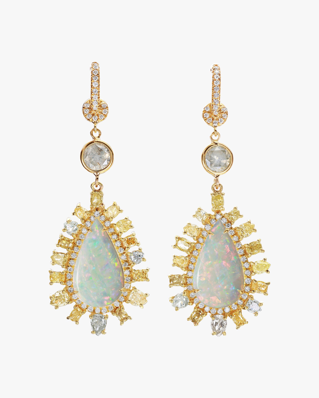 Nina Runsdorf Large Opal Earrings 1