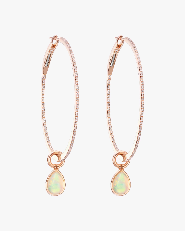 Medium Opal Flip Hoop Earrings