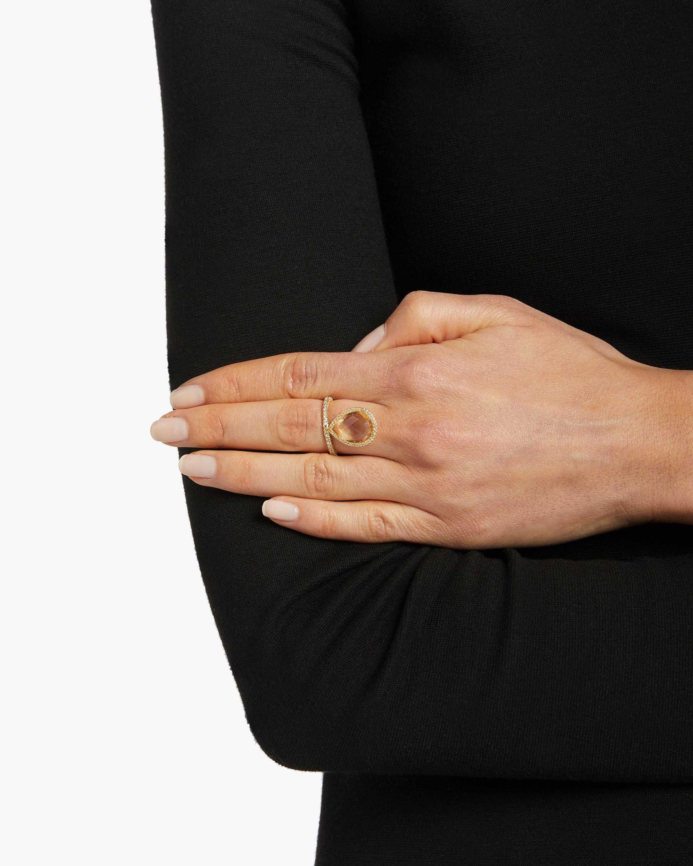 Large Citrine Flip Ring