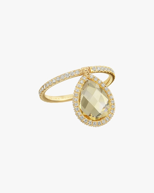 Nina Runsdorf Medium Citrine Flip Ring 0