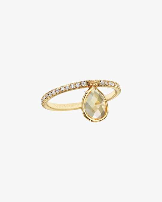 Nina Runsdorf Mini Citrine Flip Ring 0