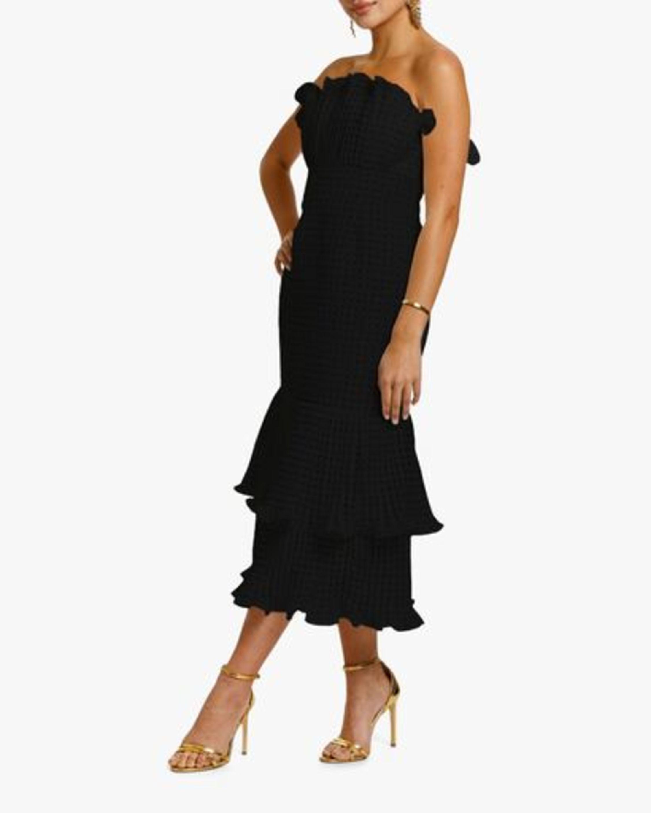 Mestiza Pericon Peplum Midi Dress 1