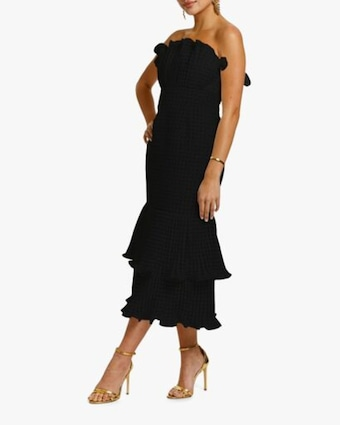 Pericon Peplum Midi Dress