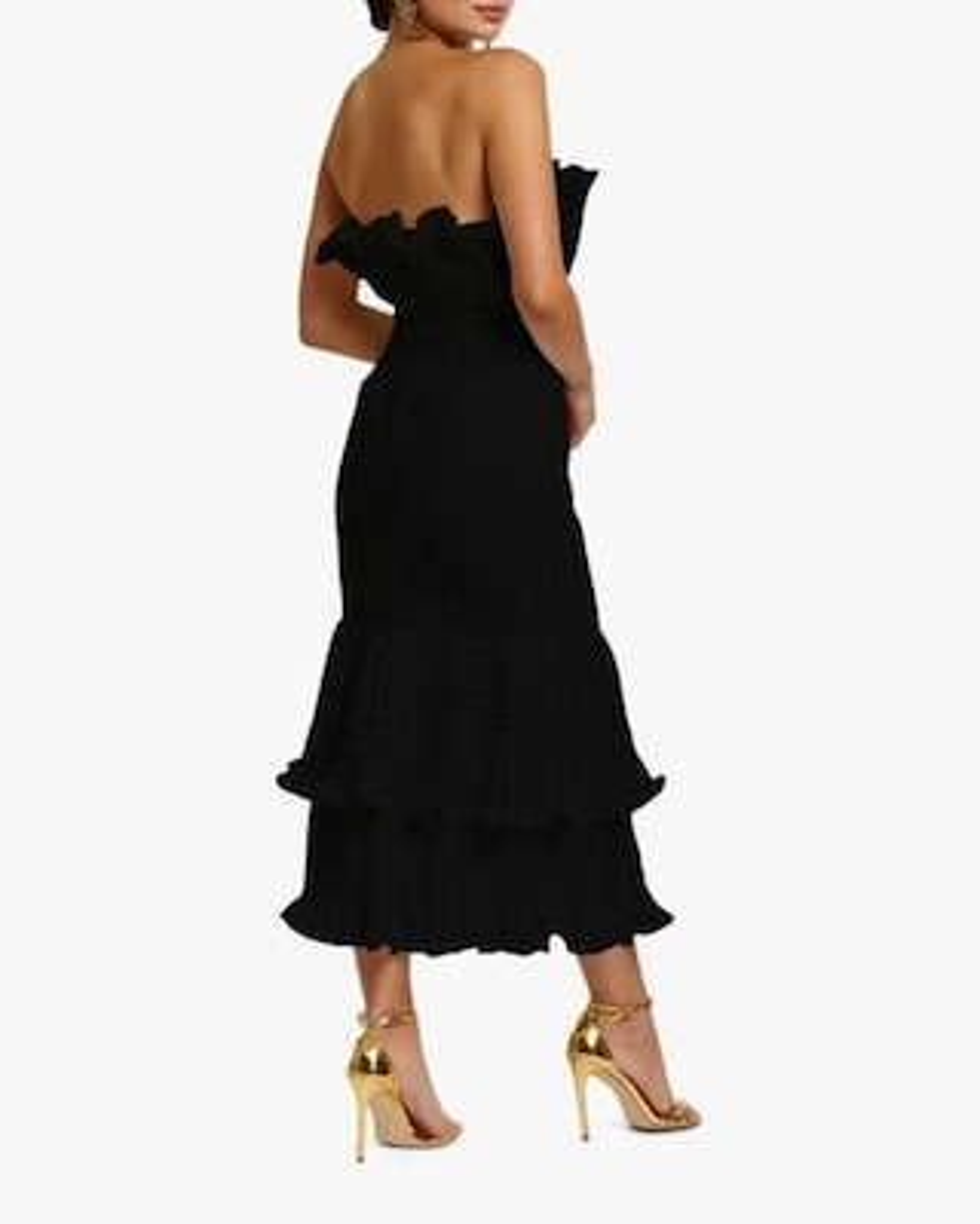 Mestiza Pericon Peplum Midi Dress 2