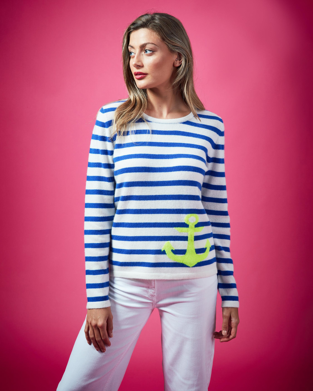 Brodie Cashmere Ahoy Sweater 0